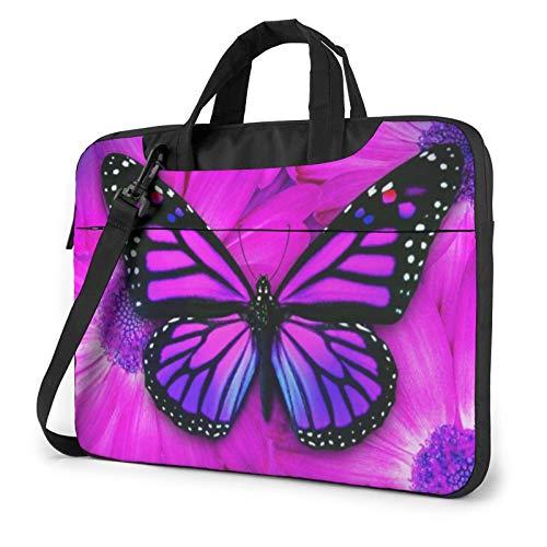 Laptop Shoulder Bag - Butterfly Printed Shockproof Waterproof Laptop Shoulder Backpack Bag Briefcase 13 Inch
