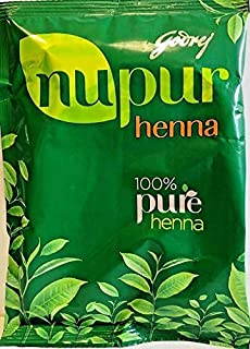 Godrej Nupur Henna Natural Mehndi for Hair Color with Goodness 400 gm