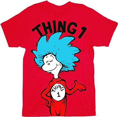 Dr. Seuss Thing 1 Erwachsene Rot T-shirt (X-Large)