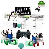 TMIL Kit RC Robot De Juguete Juego De Fútbol, Controlado De Radio (Rango De 10 Metros), con GOL, Pelotas Y Otros Accesorios Incluido, El Robot Programable para El Aprendizaje De Arduino