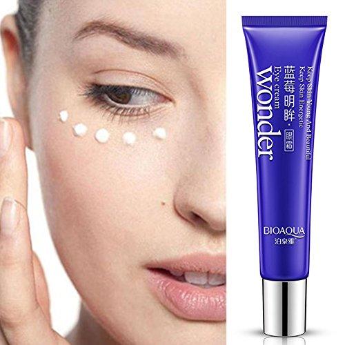 Eye Cream, bioaqua círculo oscuro Blueberry Antienvejecimiento Antiarrugas ojo Remover humectante Firming Cream