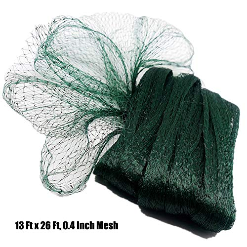 POYEE 11 Bird Netting for Garden-13, Nylon Gard, 13 Ft x 26 Ft, 0.4 Inch Mesh