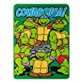 "Nickelodeon's Teenage Mutant Ninja Turtles, ""Cowabunga Dudes"" Fleece Throw Blanket, 46"" x 60"", Multi Color"