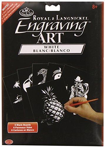 Royal & Langnickel Engraving Art Blank Board: White Foil, 5