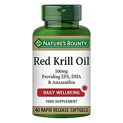 Nature's Bounty Red Krill Oil 500 mg Softgels - Pack of 40