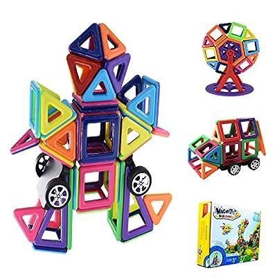 Magnetpro Bloques de construcción magnéticos Niños 108 Piezas Juguetes magnéticos, Juguetes educativos 3D, Regalo de cumpleaños para niños para niños a Partir de 3 años