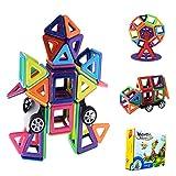 Blocchi Magnetici Giocattoli, 3D Arcobaleno Giochi Giocattoli Educativi Kit, Costruzioni Magnetiche Bambini, Grande Regalo per Bambini / Ragazzi (77 Pezzi)