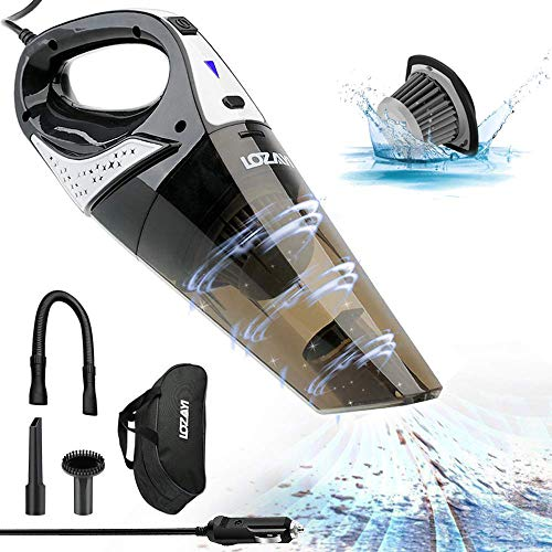 Car Vacuum Cleaner, LOZAYI High Power DC 12V 5000PA Stronger Suction...
