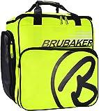 BRUBAKER 'Super Champion' - Sac à Chaussures de Ski/Sac Casque/Sac à Dos Ski - Jaune Fluo/Noir