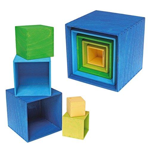 Grimm's kleiner Kistensatz bunt aussen blau