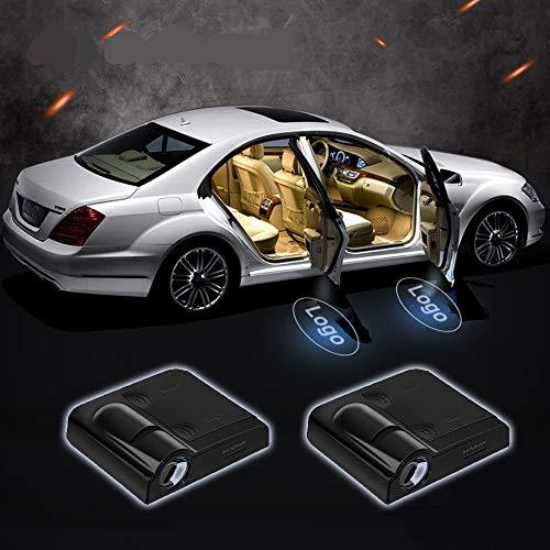 LED Auto Projektor, 4 Stück personalisierte (Foto, Text, Muster) auf dem LED Auto Projektor, Universal Wireless Magnetic Sensor Shadow Logo Lampe