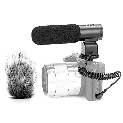 Meike MK-MP1 - Micrófono de audio para cámara réflex digital DV, grabadora y más equipo de grabación