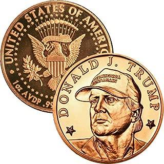 Jig Pro Shop Private Mint 1 oz .999 Pure Copper Round/Challenge Coin (Donald J Trump MAGA (Baseball Cap))