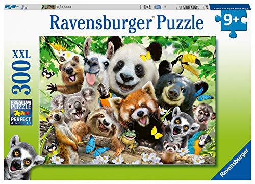 Ravensburger 12893 - Wildlife Selfie 300 Puzzle mit extra großen Teilen für Kinder ab 9 Jahren