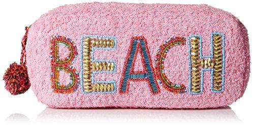 'ale by alessandra Women's Beach Baby Plush Cotton Terry Cloth Clutch/Bikini Bag, Pink, One Size