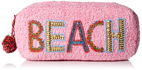 'ale by alessandra Women's Beach Baby Plush Cotton Terry Cloth Clutch/Bikini Bag, pink, One Size