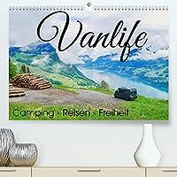 """Vanlife; Camping - Freiheit - Reisen (Premium, hochwertiger DIN A2 Wandkalender 2022, Kunstdruck in Hochglanz): Wohnmobil, Bulli oder Kastenwagen: das """"Vanlife-Gefuehl"""" macht suechtig. (Monatskalender, 14 Seiten )"""