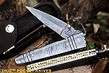 DKC Knives (2 8/18) DKC-142 Battle Stinger Damascus Folding Pocket Knife 4.5' Folded 8' Open 3' Blade 9oz