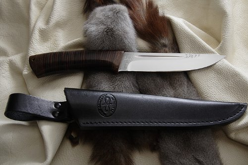 A&R Zlatoust A&R Messer Bekas Leder, Jagdmesser, Outdoormesser