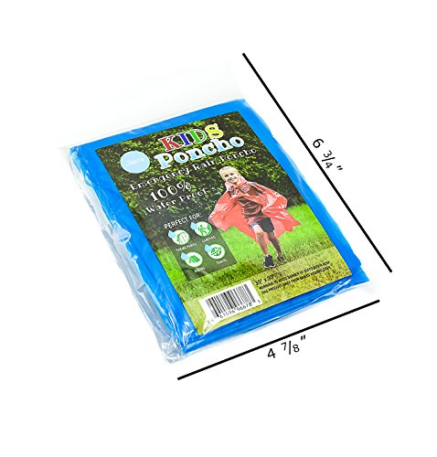 Lingito 20 Pack of Family Rain Ponchos   Disposable Emergency Ponchos   Perfect for Camping, Hiking & Travel