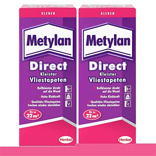 Metylan Direct Tapetenkleister für Vlies-Tapeten 2x 200g, Pulver
