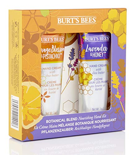 Burt's Bees Botanical Blend Nourishing 2-teiliges Handset, 1 Handcreme Lavendel und Honig 28,3 g, 1 Orangenblüte und Pistazie Handcreme 28,3 g