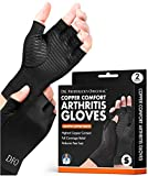 Dr. Frederick's Original Copper Comfort Arthritis Glove - 2 Gloves - Perfect Computer Typing Gloves - Fit Guaranteed - Small