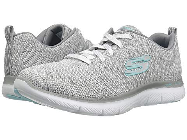 セクタ自発的おばさん[スケッチャーズ] レディーススニーカー?靴?シューズ Flex Appeal 2.0 - High Energy White/Gray US 8.5 (25.5cm) B - Medium [並行輸入品]