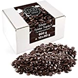 FOOD crew Chocolate Negro Pepitas de Chocolate para Hornear - 900g Chocolate Belga Fundir - Chocolate Fondant para Postres - para Fuentes o Fondue de Chocolate