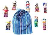 Mini- poupée, inquiétude poupée, 8 pièces dans un sac, grand, souci poupée