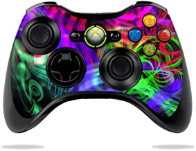MightySkins Skin Compatible with Microsoft Xbox 360 Controller - Neon Splatter | Protective, Durable, and Unique Vinyl Decal wrap Cover | Easy to Apply, Remove, and Change Styles | Made in The USA