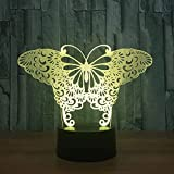 Butterfly 3D Visual Illusion Lamp Transparent Acrylic Night Light LED Lamp Color Changing Touch Table Bulbing Lamp 3D Deco Light-Mobile phone bluetooth