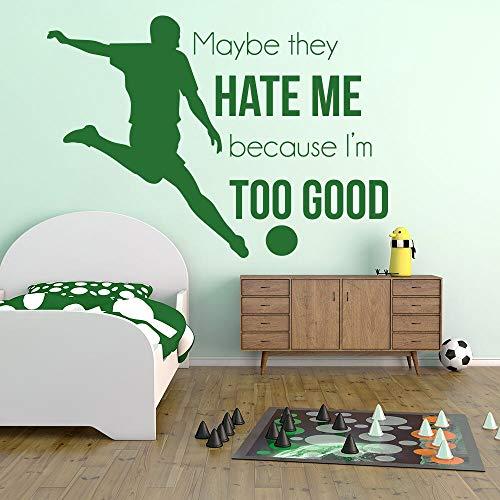 hetingyue muurstickers, voetbal, muurstickers, retro, vinyl, decoratie