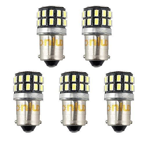 Bonlux 5-PCS 3W 12V BA9 BA9s Conduit H21W Ampoule LED Voiture 1445 1895 6253 64111 64113 T4W pour Plaque d'immatriculation Feu de Signalisation Position feu arrière Liseuse Blanc Froid 6000k