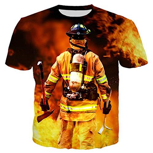 Feuerwehr Anzug 3D All Over Printed 3D DruckHoodie Zipper Männer Frauen Jogging-Hosen-beiläufige Shorts Anzug T-Shirt 1 L