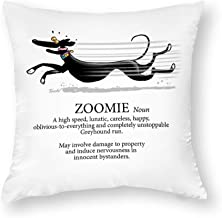 Decorative Pillow Covers Greyhound Zoomie Throw Pillow Case Cushion Cover Home Decor,Square 18 X 18 Inches