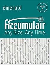 Accumulair Emerald 24x30x1 (23.5x29.5) MERV 6 Air Filter/Furnace Filter