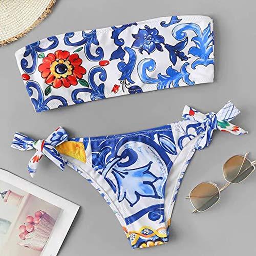 GPQHSM Bikini Dos Piezas Bikini Tankini de Las Mujeres impre