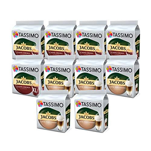 Tassimo Kaffee Jacobs Café Crema XL/Latte Macchiato Classico - 10 Packungen (120 Getränke)