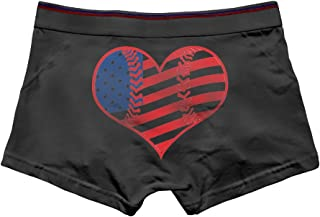 Diamonds Jun DiamondsJun American Flag Baseball Heart Men's Comfortable Panties
