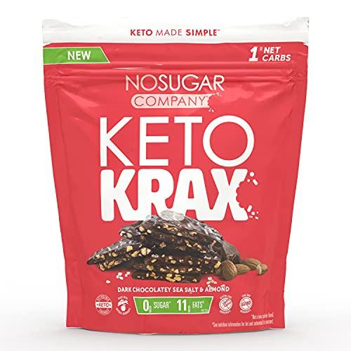 No Sugar Keto Krax - Dark Chocolatey Sea Salt & Almond 490g by No Sugar Company