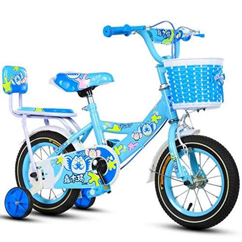Bicicleta para niños Bicicleta de Acero para niños pequeños en tamaño 12 14 16 18 Bicicleta Ajustable para niños de 2 a 13 años con Rueda de Entrenamiento
