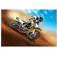 エクストリームスポーツオートバイポスタープリントアートワークギフト装飾壁アートキャンバス絵画リビングルームの装飾-40x60CMフレームなし