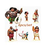 Disney Moana Princess Toy 6 pcs/Set vaiana boneca Cosplay Aventura...