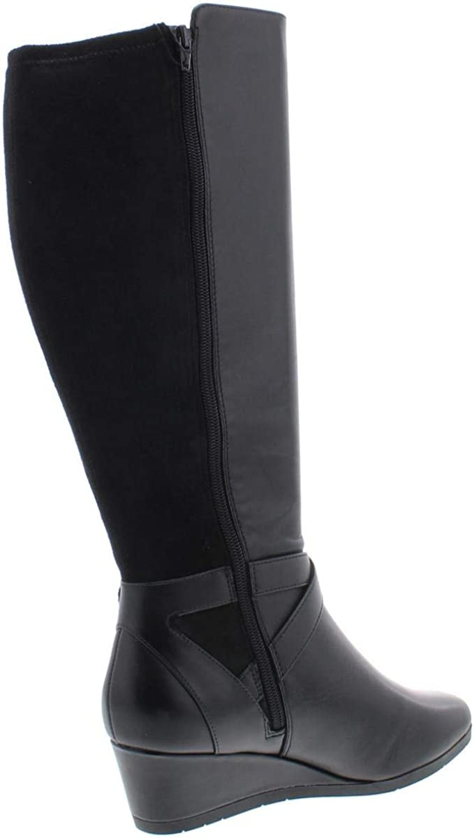 Giani Bernini Womens Chelseyy Leather Wedge Knee-High Boots