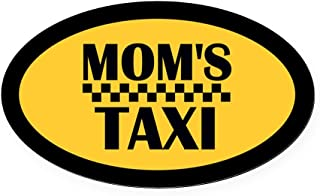 CafePress Mom's Taxi Oval Car Magnet, Euro Oval Magnetic Bumper Sticker