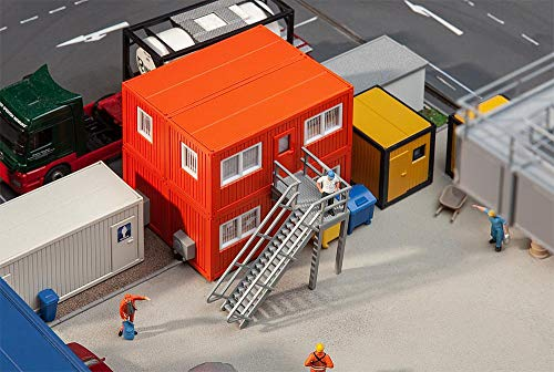 Faller FA130135 4 Baucontainer, orange Modellbausatz, verschieden