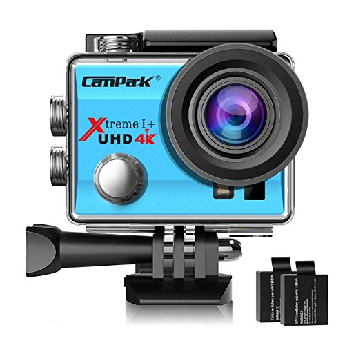 Campark ACT74 Action Camera 4K WiFi Waterproof Sports Camera 170 Degree Ultra Wide Angle Lens with 2...