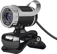 docooler Webcam USB Desktop Web Cam per Videochiamate con Microfono Fonoassorbente Incorporato per Laptop Desktop Computer PC