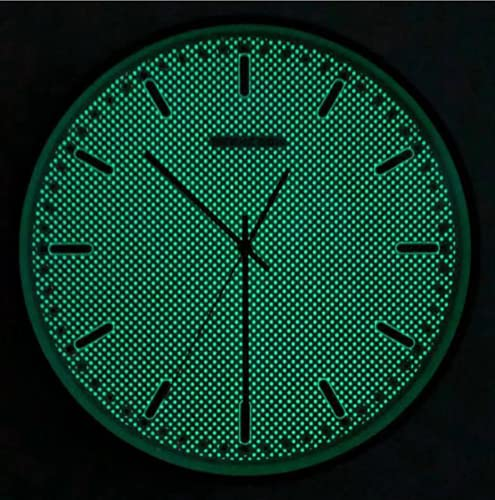 TYPING Reloj De Pared De 35cm De Madera Luminoso Silencioso Fluorescente Reloj...